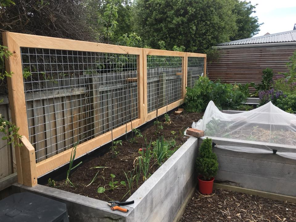 Macrocarpa Raised Garden Beds + Decking