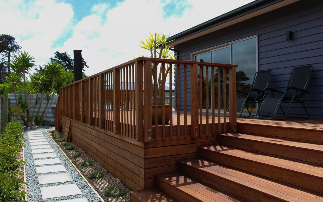 Residential Kwila Deck, Balustrade and Railing