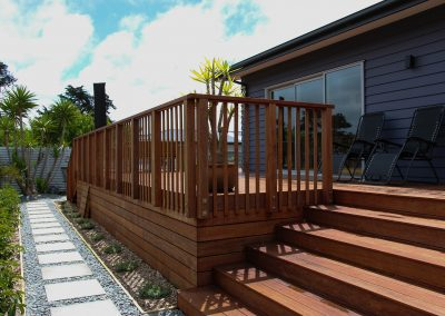 Residential Kwila Deck, Balustrade and Railing