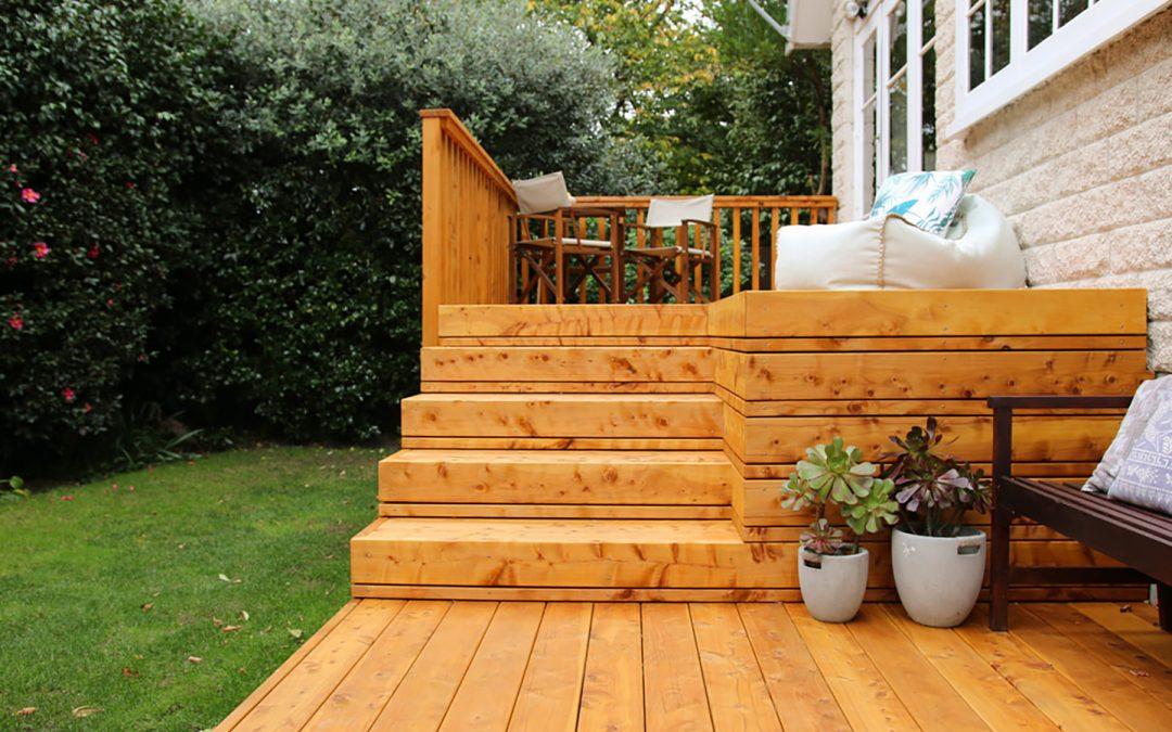 Residential Macrocarpa Deck